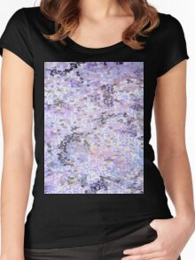 Purple dissolve  Women's Fitted Scoop T-Shirt