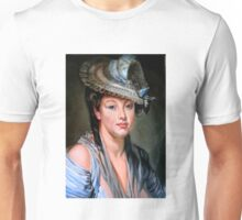 Young Woman in a White Hat after Jean-Baptiste Greuze Unisex T-Shirt