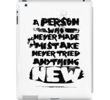 Quote Albert Einstein iPad Case/Skin