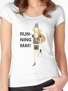 Running Man Women's Fitted Scoop T-Shirt