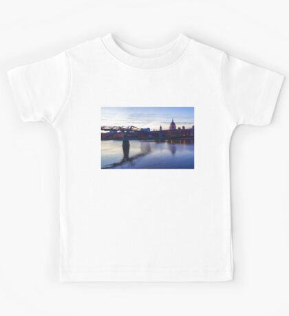 Impressions of London in Purple Kids Tee