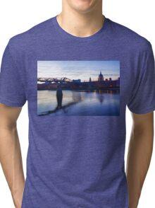 Impressions of London in Purple Tri-blend T-Shirt