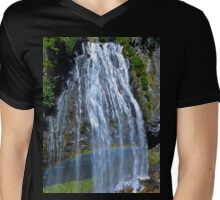 Rainbow at Narada Falls, Mt. Rainier National Park Mens V-Neck T-Shirt