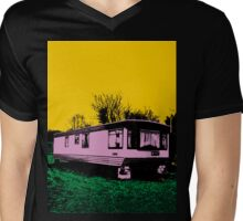 Pink Trailer Mens V-Neck T-Shirt