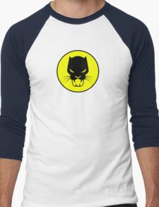 Panther Silhouette Logo Men's Baseball ¾ T-Shirt