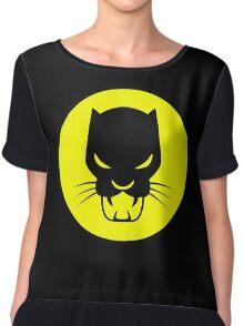 Panther Silhouette Logo Women's Chiffon Top