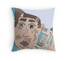 90's Cell Phone Throw Pillow