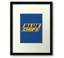 BLUE CHIPS Framed Print