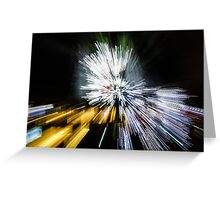 Abstract Christmas Lights - Burst of Colors Greeting Card