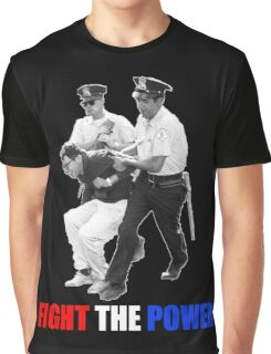FIGHT THE POWER Bernie Sanders Arrested Graphic T-Shirt
