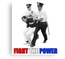 FIGHT THE POWER Bernie Sanders Arrested Canvas Print