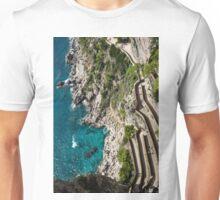Long and Twisted Walk to the Shore - Azure Magic of Capri Unisex T-Shirt