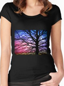 Cotton Candy Sunset Women's Fitted Scoop T-Shirt