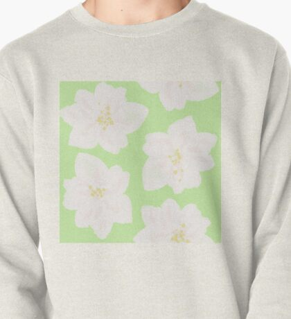Watercolor Magnolias in Key Lime Pullover