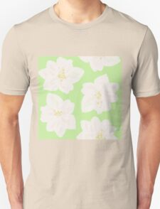 Watercolor Magnolias in Key Lime T-Shirt