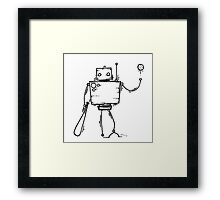 PAGEUP the robot Framed Print