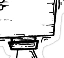 PAGEUP the robot - white BG Sticker