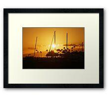Sunset silhouettes  Framed Print