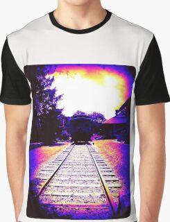 Train at Sunset Graphic T-Shirt