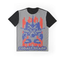 Cobalt Blade Two-Tone Graphic T-Shirt