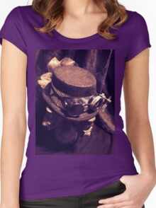 Steampunk Ladies Hat 1.1 Women's Fitted Scoop T-Shirt
