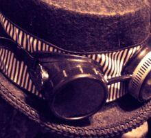 Steampunk Ladies Hat 1.1 Sticker