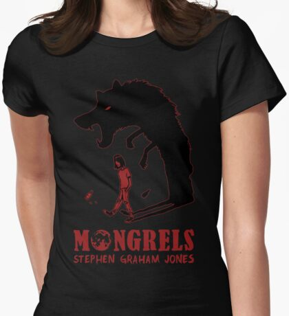MONGRELS (shadow) Womens Fitted T-Shirt
