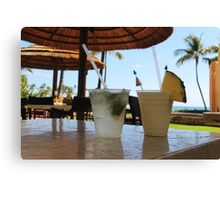 Tropical drinks  Canvas Print