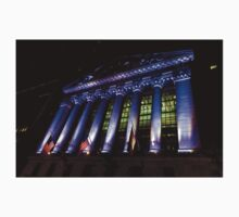 Purple New York Stock Exchange at Night - Impressions Of Manhattan One Piece - Short Sleeve