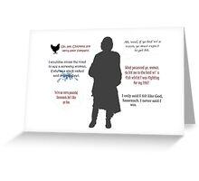 Outlander/Jamie's humor  Greeting Card