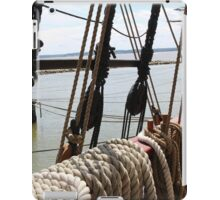 Onboard a moored old ship.  iPad Case/Skin