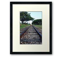 Railway track in perspective  Framed Print