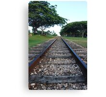 Railway track in perspective  Canvas Print
