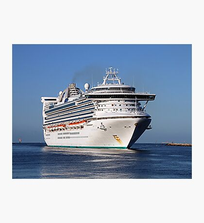 Golden Princess cruise ship Photographic Print