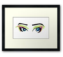 Doll Eyes Framed Print