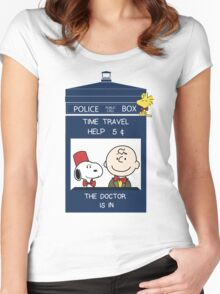 Dr Who - Charlie Brown Women's Fitted Scoop T-Shirt