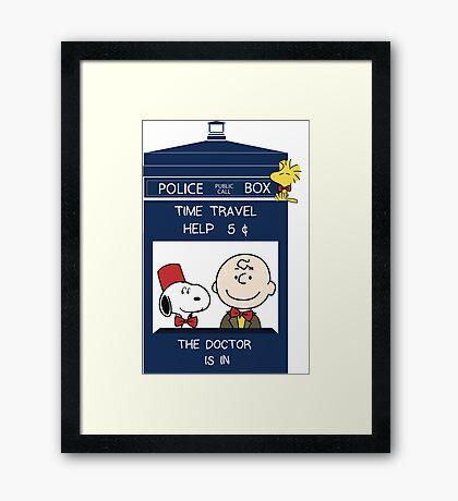 Dr Who - Charlie Brown Framed Print