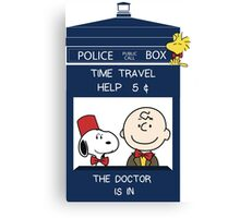 Dr Who - Charlie Brown Canvas Print