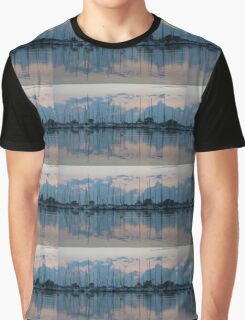 Pink and Blue Peace - Still Sailboat Reflections  Graphic T-Shirt