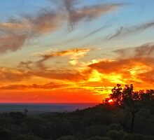 Sunset looking west over Hughenden by Paul Gilbert