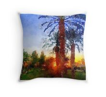 Sunrise in Palm Springs Throw Pillow