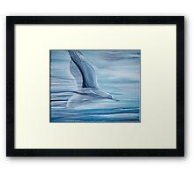 Flying Bird - In motion Framed Print