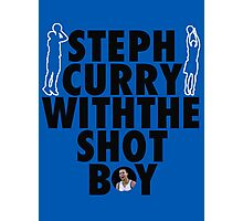 Steph Curry with the shot boy Photographic Print