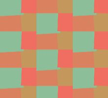 Retro Color Modern Geometric Pattern #9 by Nhan Ngo