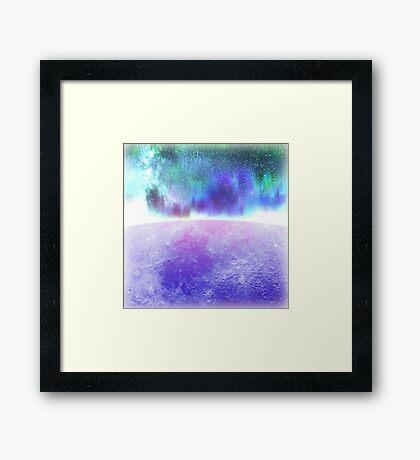 Purple Moon. Framed Print
