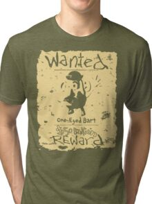 Wanted - One-Eyed Bart Tri-blend T-Shirt