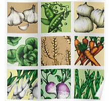 Farmers Market Montage Poster