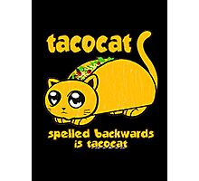 Funny - tacocat (vintage distressed look) Photographic Print