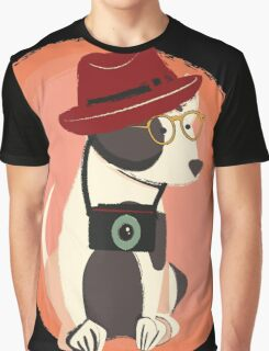 Funny cool Hipster Puppy Dog Graphic T-Shirt