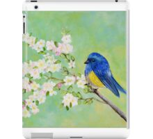Bird on Branch - Whimsical Art iPad Case/Skin